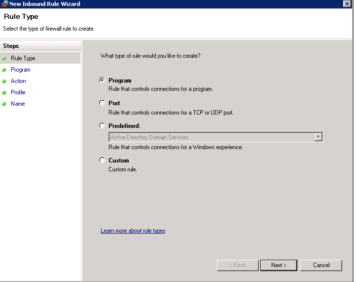 SQL Server Firewall Rule