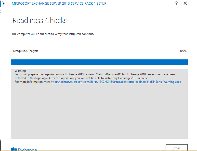 Exchange 2013 Readiness Check